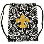 225503-GD-DAMASK DESIGN  BAG W/GOLD FDL