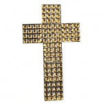 XJ4002AM - AMBER MULTI STONE WALL CROSS