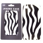 SI124005-IPHONE 4S COVER ZEBRA W/BLACK/WHITE