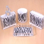 125005 ZEBRA BATHROOM SET/4PC.