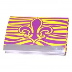 FDL BUSINESS CARD HOLDER / W ZEBRA ( PURPLE / GOLD ) DESIGN