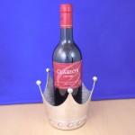 CROWN-HAMMERED DESIGN WINE OR CANDLE HOLDER
