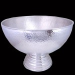 "80035-X-LARGE HAMMERED PUNCH BOWL 20"" ROUND"