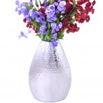 "FLOWER VASE 17"" W/HAMMERED DESIGN"