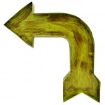 1294 - WALL HANGING VINTAGE GREEN ARROW SIGN (METAL)