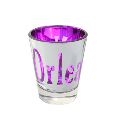 181172 - NEW ORLEANS PURPLE/SIL SHOT GLASS