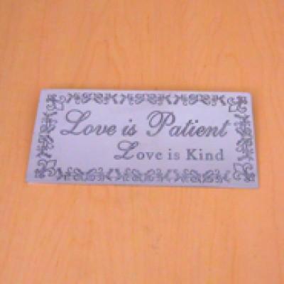 23785 - WALL PLAQUE - LOVE IS PATIENT