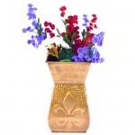 1184B - FLOWER VASE FLEUR DE LIS BRASS