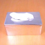 3446 -SILVER RECT. TISSUE BOX ( HAMMERED )