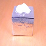 3447 -STAR TISSUE BOX ( HAMMERED )