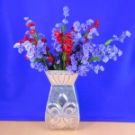 80024 - SQUARE FLOWER VASE / W FDL DESIGN