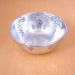 "3461B - ROUND HAMMERED BOWL 8"" W/FDL"