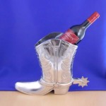 50774 - LARGE BOOT WINE HOLDER OR FLOWER VASE