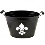 1200 - BLACK BUCKET W/SILVER FDL