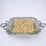 22035 - ROPE DESIGN PYREX HOLDER W/GLASS