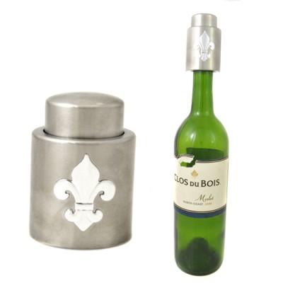181137- VACUUM WINE STOPPER SILVER / W FDL