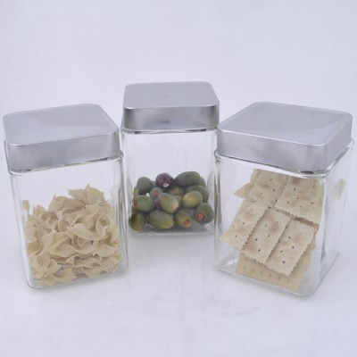 QG1001-3PC. JAR SET W/SILVER COVER