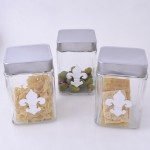 QG1001-FDL-3PC. JAR SET W/SILVER FDL COVER