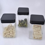 QG1002-3PC. JAR SET W/BLACK COVER