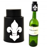 181138-SIL- VACUUM WINE STOPPER BLACK / W FDL