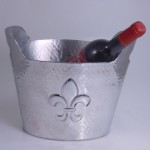 3488-HAMMERED FDL WINE COOLER
