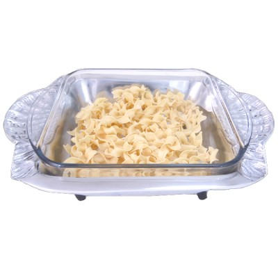 52065-SHELL HANDLE CASSEROLE W/GLASS