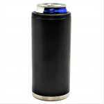 500420- BLACK 12OZ SLIM CAN KOOZIE