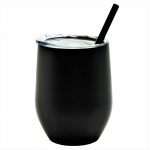 500307- BLACK 12OZ WINE TUMBLER