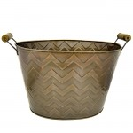 1232 - COPPER CHEVRON BUCKET