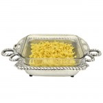 52283-ROPE DESIGN PYREX HOLDER W/ GLASS