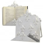 3537 - FDL COOK BOOK HOLDER W/ HAMMERED DESIGN