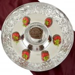 3556 - DAMASK CHIP N' DIP ROUND TRAY - 16""