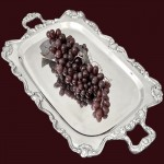 50760 - TRAY WITH HANDLE FILIGREE
