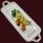52428 - RECT. BEADED TRAY / W BEADED HANDLE - 23""