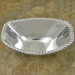 52430 - RECTANGULAR OVAL BEADED  BOWL