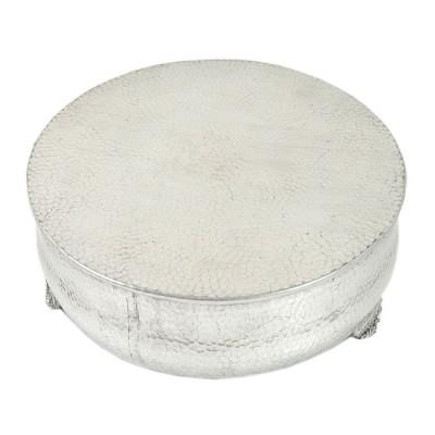 80097 - MEDIUM ROUND HAMMERED CAKE PLATEAU 16''