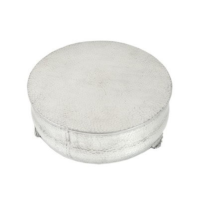 80096 - SMALL ROUND HAMMERED CAKE PLATEAU 12''
