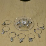 GC60010  -  WINE GLASS CHARMS - 12 PC SET