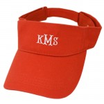 181347 - RED COTTON VISOR CAP