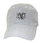 32521 - BLUE COTTON SEER SUCKER CAP