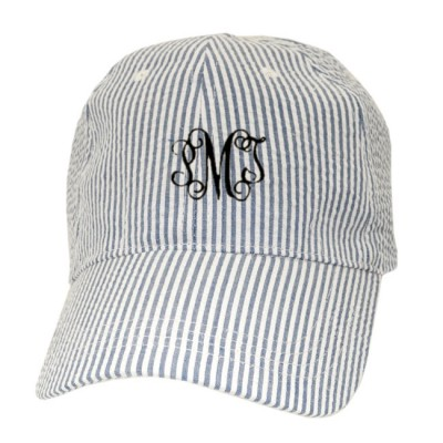 32521 - BLUE COTTON SEER SUCKER CAP