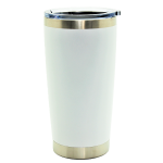 500567- WHITE 20OZ STAINLESS STEEL TUMBLER