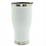500505- WHITE 30OZ STAINLESS STEEL TUMBLER