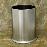 32546 - LARGE UTENSIL HOLDER STAINLESS STEEL