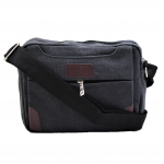 7785 - BLACK MESSENGER BAG