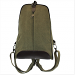8112-GREEN MEDIUM  CANVAS BACKPACK