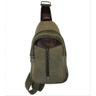 9515 -GREEN SMALL  CANVAS BACKPACK