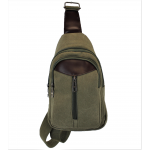 8275 -GREEN SMALL  CANVAS BACKPACK