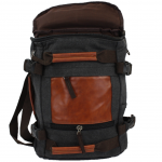 A42 - BLACK CANVAS BACKPACK OR DUFFEL BAG