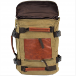 A42 - TAUPE CANVAS BACKPACK OR DUFFEL BAG